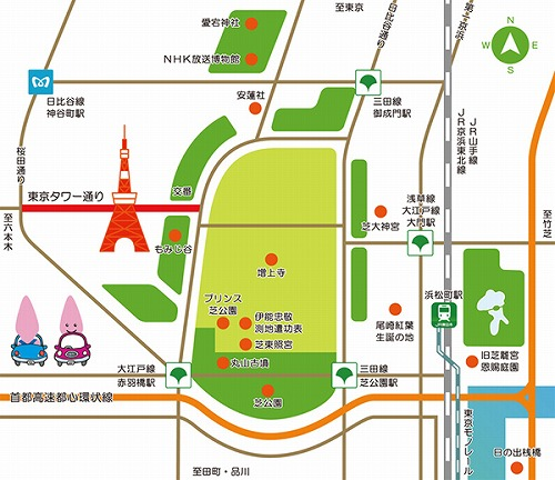 s map s 1 - 運気が上がるパワースポット!東京タワーに行くなら蛇塚もセットで♪